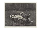 A St Bernard Puppy, the Sleep of Innocence Giclee Print by James E. Bourhill