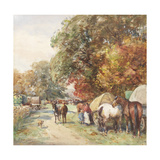 Brough Fair Giclee Print by John Atkinson