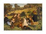 Summertime, Gloucestershire, Exh.1860 Giclee Print by James Archer