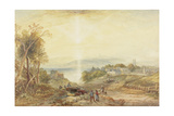 Village on the Bank of a Lake Giclee Print by James Baker Pyne