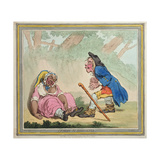 Cymon and Iphigenia, Published by Hannah Humphrey in 1796 Giclee Print by James Gillray