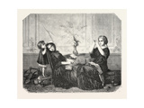 Salon of 1855 Giclee Print by Jean Louis Hamon