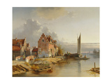 Belgian Riverside, 1858 Giclee Print by Jacques Carabain