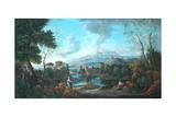 Classical Landscape, Orizante Giclee Print by Jan Frans van Bloemen