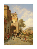 View of Spottorno on the Mediterranean Coast, 19th Century Giclee Print by Jacques Carabain