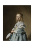 Portrait of a Girl Dressed in Blue, 1641 Giclée-Druck von Johannes Cornelisz. Verspronck