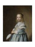 Portrait of a Girl Dressed in Blue, 1641 Giclée-Druck von Johannes Cornelisz. Verspronck