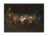 A Magnificent Garland of Fruit and Flowers, 1840 Giclee Print by Johan Laurents Jensen