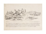 The Earl of Uxbridge Leading a Charge of Cavalry at the Battle of Waterloo Giclee Print by John Augustus Atkinson