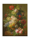 Flowers in a Vase on a Marble Console Table, 1816 Giclee Print by Jan Frans van Dael
