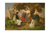 The Birth of the Folk-Song Giclee Print by Janos Janko