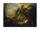 Country Festival, Ca 1728 Giclee Print by Jean-Baptiste Pater