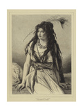 Rosa, a Gipsy Girl Giclee Print by Jean Francois Portaels