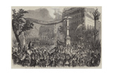 Entry of the Army of Italy into Paris, the Troops Passing Through the Boulevard Des Italiens Giclee Print by Jean Adolphe Beauce