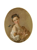 Young Girl Holding Two Puppies, C.1770 Giclée-tryk af Jean-Honore Fragonard