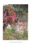 He Never Was the Courteous Knight, to Say, Fair Maid Will Ye Ride, 1928 Giclee Print by John Byam Liston Shaw