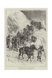 The War, Russian Troops on the March in a Snowstorm Giclee Print by Johann Nepomuk Schonberg