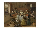 The Merry Family, 1668 Giclee Print by Jan Havicksz. Steen