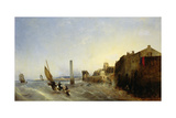 View of Napoleon Quay at Cherbourg, 1838 Giclee Print by Jean Louis Petit