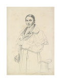 Three-Quarter-Length Portrait of Jean-Francois-Antoine Forest (Graphite on White Wove Paper) Giclee Print by Jean Auguste Dominique Ingres