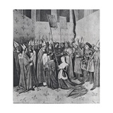 Ms Fr. 6465 the Coronation of Louis VIII (1187-1226) and Blanche De Castille (1188-1252) Giclee Print by Jean Fouquet