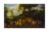 The Wedding, C.1712-16 Giclée-tryk af Jean Antoine Watteau