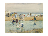 On the Beach, Whitley Bay Giclee Print by John Atkinson
