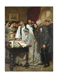 Signing the Marriage Register Giclee Print by James Charles