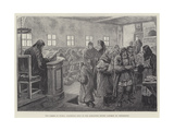 The Famine in Russia, Dispensing Soup at the Alexander Nevsky Convent, St Petersburg Giclee Print by Johann Nepomuk Schonberg