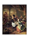 The Gallant Innkeeper Giclee Print by Jan Havicksz. Steen