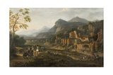Landscape with Horsemen Giclee Print by Jacques Courtois