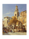 Continental Street Scene Giclee Print by Jacques Carabain