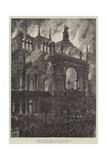 Burning of the Ring Theatre at Vienna Giclee Print by Johann Nepomuk Schonberg