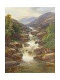 Upper Falls, Aberfeldy, 1870 Giclee Print by James Burrell Smith