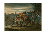 British Infantry Attacking a Gun Crew During the Campaign in Holland, C.1799 Giclee Print by John Augustus Atkinson
