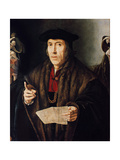 Portrait of a Man, Possibly Judge John More, Father of Sir Thomas More (1478-1535) Giclée-Druck von Jan Cornelisz Vermeyen