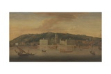A View of Greenwich from the River with Many Boats Giclee Print by Jan Griffier