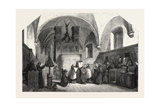 Monks of St. Francis Singing a Te Deum, 1855 Giclee Print by Johannes Bosboom