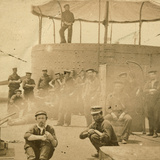 Crew on the Deck of the USS Monitor, 1862 Photographic Print by James F. Gibson