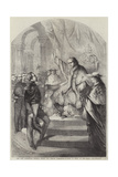 The Pope Addressing General Goyon, the French Commander-In-Chief at Rome, on New-Year's Day Giclee Print by Jean Adolphe Beauce