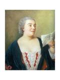Portrait of Maria Gunning (Gouache) 1749 Giclee Print by Jean-Etienne Liotard