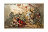 The Combat of Mars and Minerva Giclee Print by Jacques Louis David