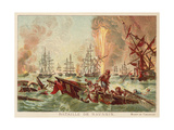 Battle of Navarino, 1827 Giclee Print by Jean Charles Langlois