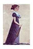Girl with Green Umbrella, C.1835 Giclee Print by Jacob Maentel