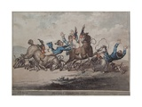 Hounds Throwing Off, 1800 Giclee Print by James Gillray