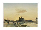 View of Notre Dame, Paris, 1864 Giclee Print by Johan-Barthold Jongkind