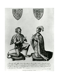 Richard Fitzalan, 3rd (10Th) Earl of Arundel (C.1307-76) and Eleanor Countess of Arundel, 1785 Giclee Print by James Basire