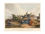 Prince Blucher under His Horse at the Battle of Waterloo Giclee Print by John Augustus Atkinson