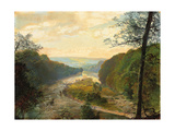 The Wharfe Valley, with Barden Tower Beyond, 1870s Giclee Print by John Atkinson Grimshaw