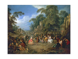 The Fair at Bezons, Ca 1733 Giclee Print by Jean-Baptiste Pater